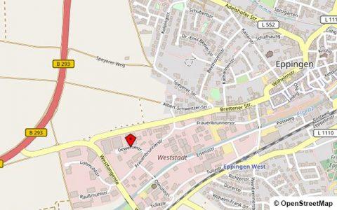 Landkarte: VÖROKA GmbH, Gewerbestraße 4-6, 75031 Eppingen