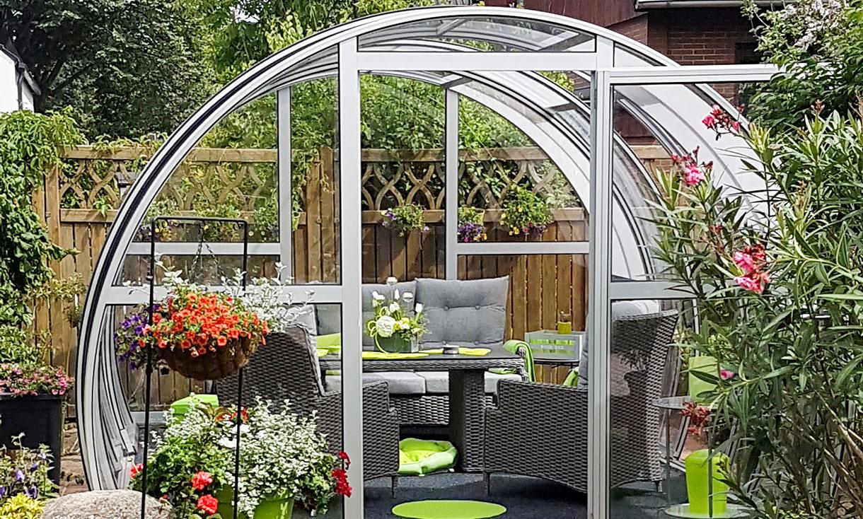 die freistehende terrassen berdachung zum aufschieben luna. Black Bedroom Furniture Sets. Home Design Ideas