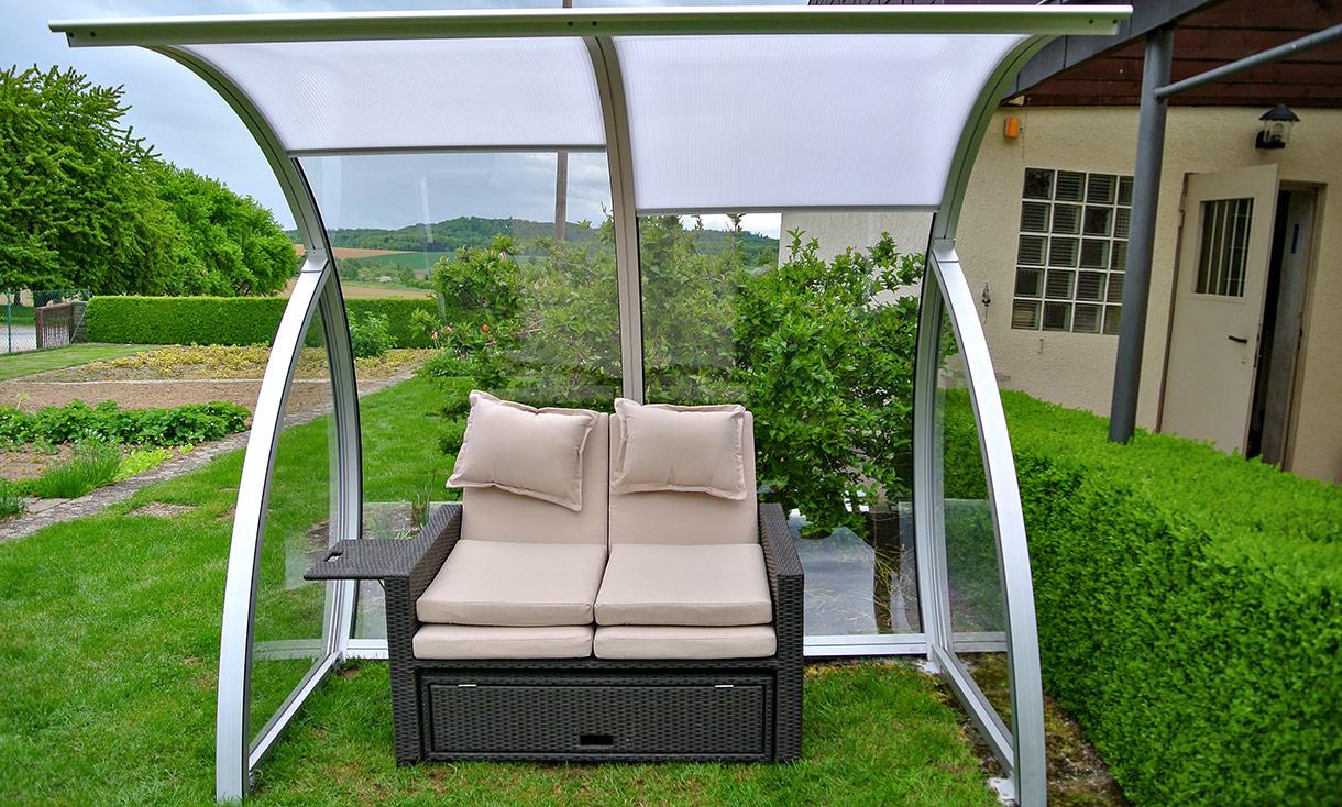 der transparente strandkorb mit stufenloser beschattung mona. Black Bedroom Furniture Sets. Home Design Ideas