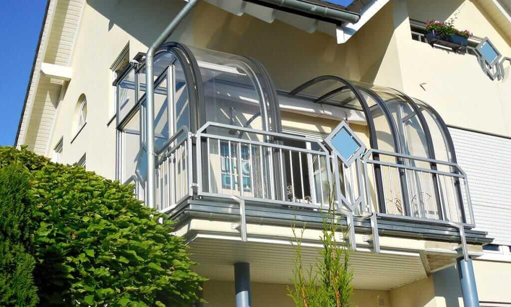 Spezielle Überdachung aus Aluminium